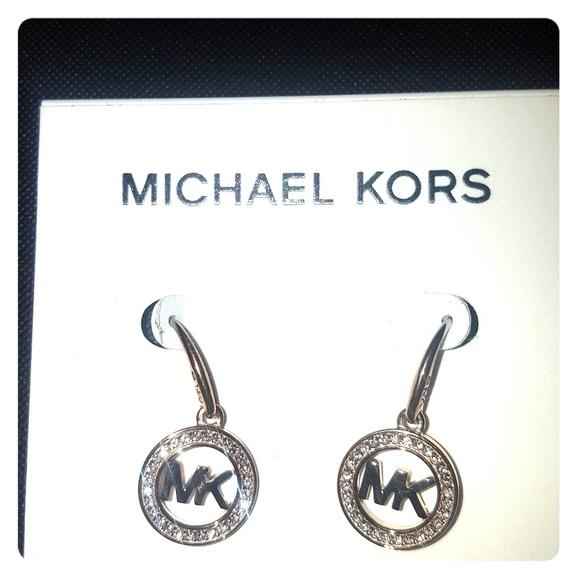 0e71c2f762319c Michael Kors Jewelry | Micheal Kors Precious Rose Gold Logo Drop ...